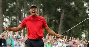 Πλάνο από βολή του κορυφαίου παίκτη γκολφ Tiger Woods