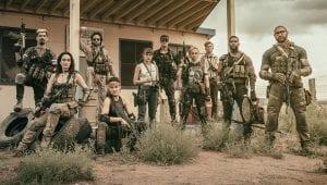 Σκηνή με τους στρατιωτες στην ταινία army of the dead