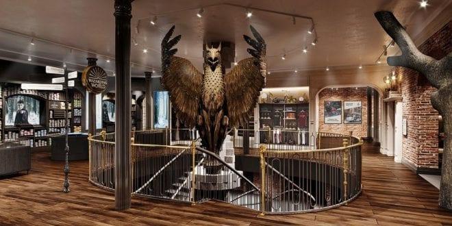 Φωτογραφία από το τεράστιο κατάστημα του Harry Potter