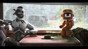 Αφίσα από την ταινία ερωτας θανατος και ρομποτ