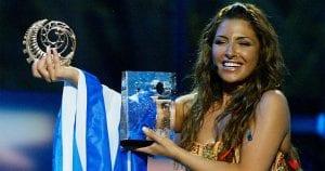 Η Έλενα Παπαρίζου σε πλάνο από τη νίκη της στην Eurovision