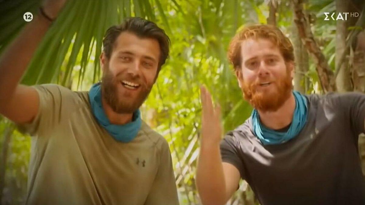 Νίκος Μπάρτζης και Τζέιμς Καφετζής στο Survivor