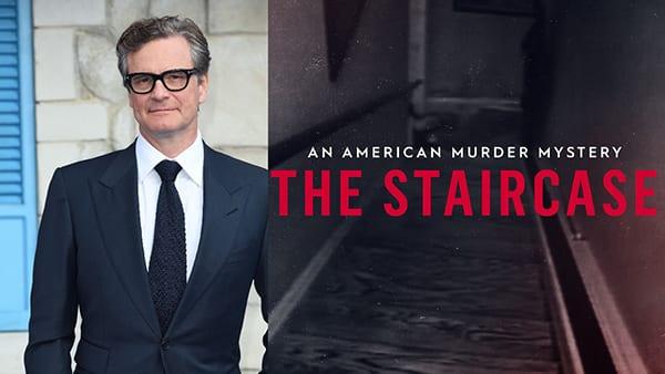 ο Colin Firth και η Juliette Binoche στο Τhe Staircase της HBO Max