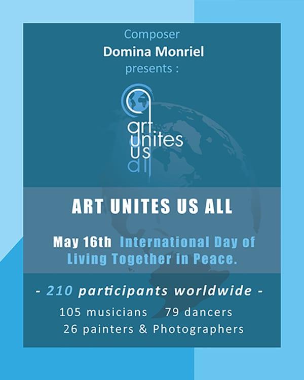 Art Unites Us All σε συνθεση της Domina Monriel