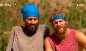 Σταμούλης και Παππάς σε πλάνο από το Survivor