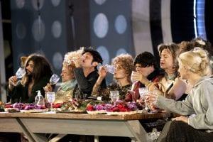 Οι πρωταγωνιστές της θεατρικής παράστασης στο βεάκειο