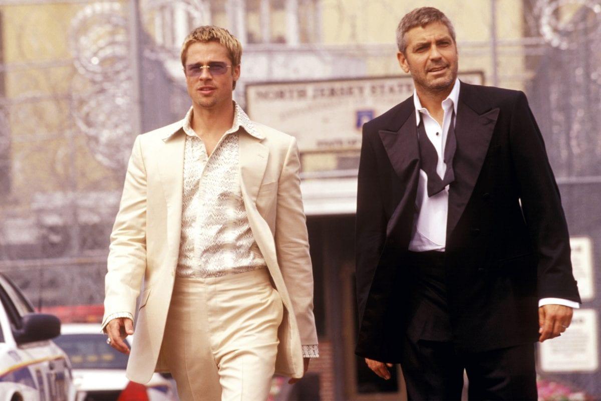 Brad Pitt και George Clooney στη ταινία Ocean's 11