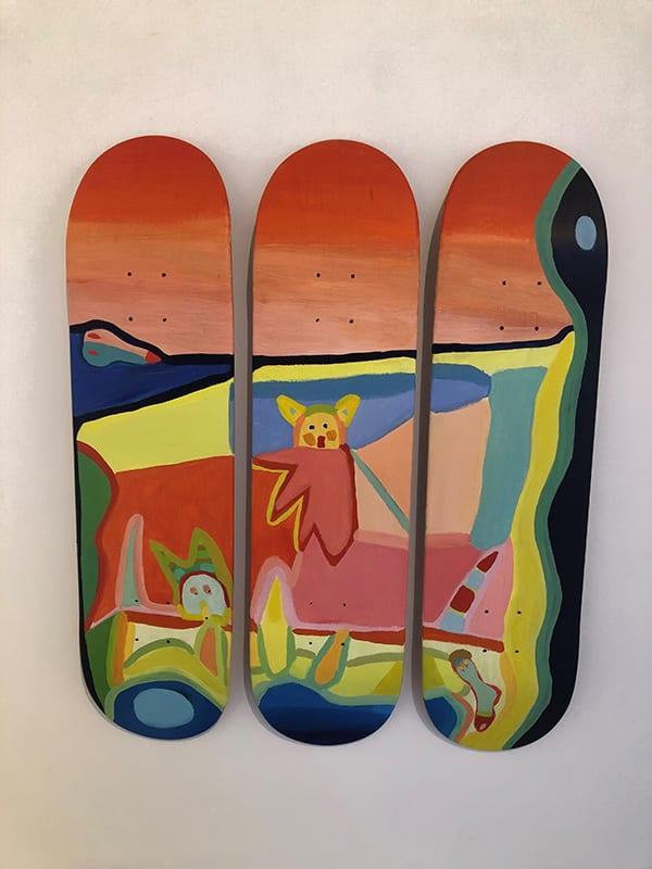 Γκαλερί Ζουμπουλάκη - έκθεση με skateboards - εκθέσεις της πόλης