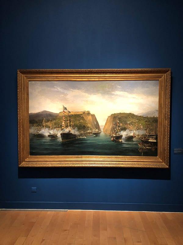 πίνακας από την έκθεση για την επανασταση του 1821 στο Μουσείο Μπενάκη - εκθέσεις της πόλης