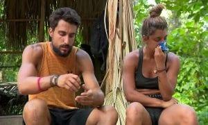 Μαριαλένα και Σάκης σε πλάνο από το Survivor