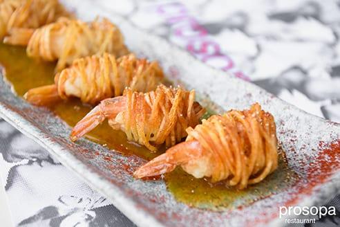 πιάτο από το εστιατόριο Prosopa στο Ρουφ