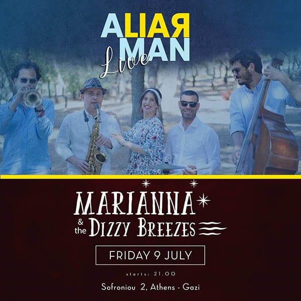 Marianna & The Dizzy Breezes στο A Liar Man ζωντανά στις 9 Ιουλίου