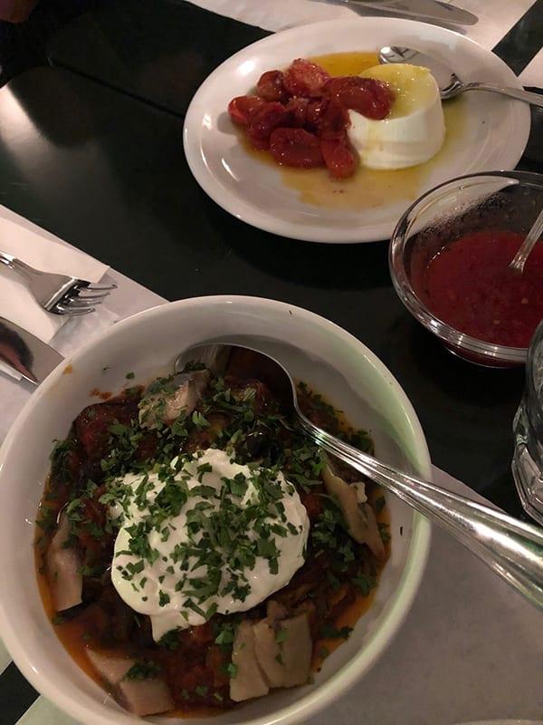 Τζουτζούκα Ρουφ - Πιατο με μελιτζάνα καπνιστή ρέγγα και γιαούρτι