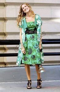 Η Σάρα Τζέσικα Παρκερ σε πράσινο φόρεμα