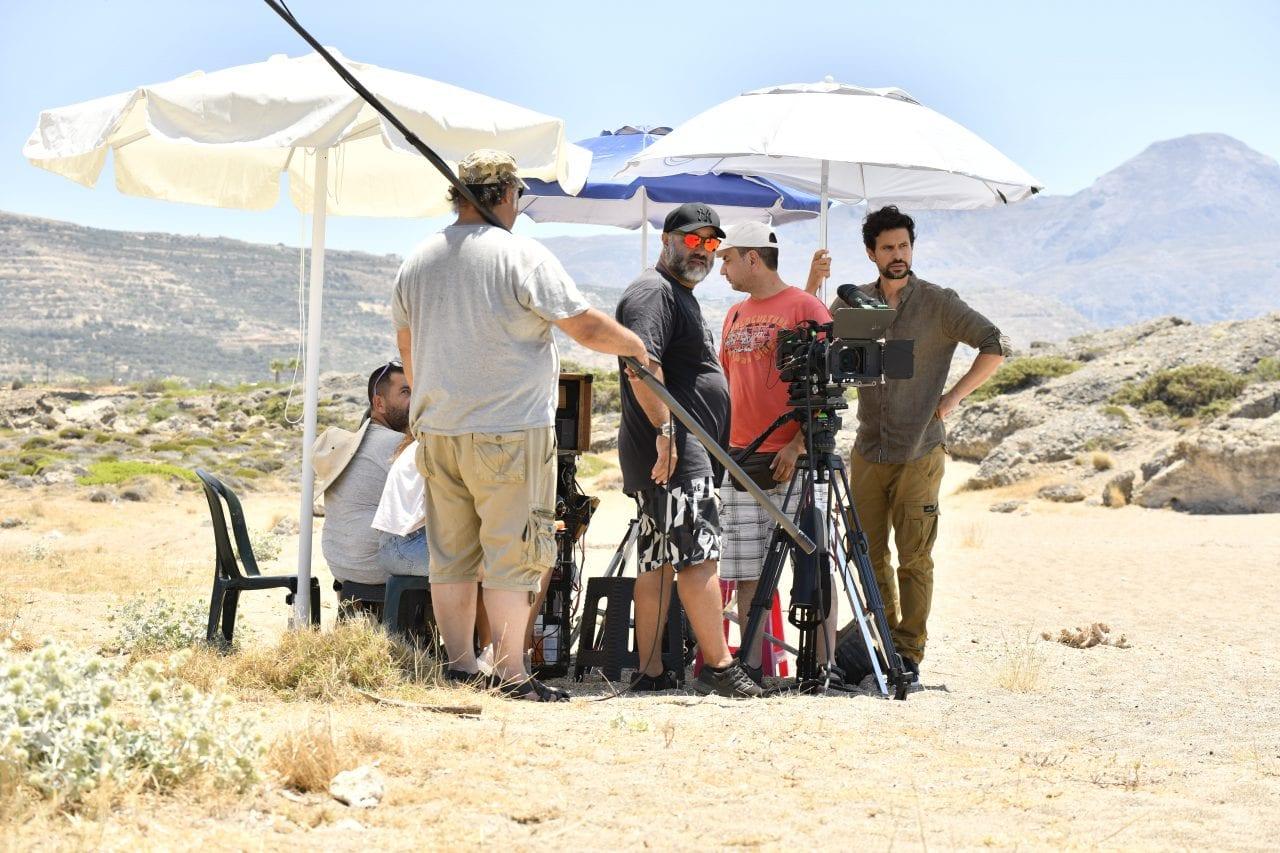 Εικόνα από τα γυρίσματα στην Κρήτη