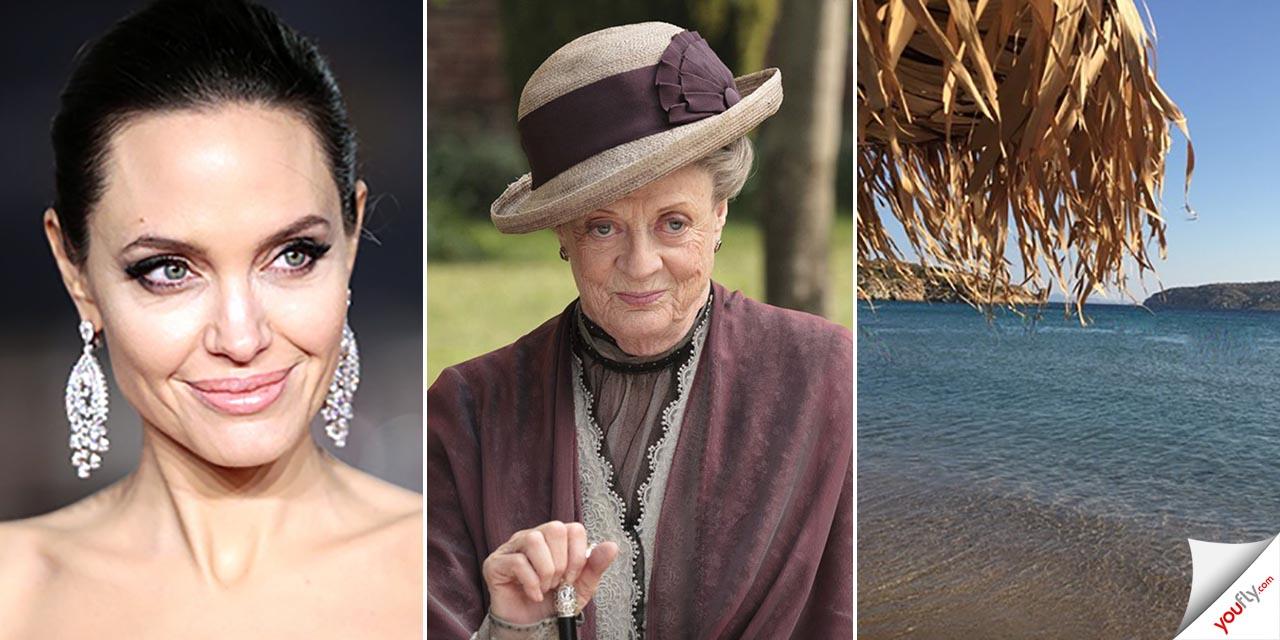 Zip the Day - Angelina Jolie-maggie Smith-παραλία Χάρακας