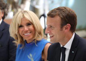Η Brigitte και ο Emmanouel Macron στο Zip the Day