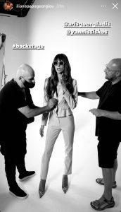Η Ηλιάνα Παπαγεωργίου στα backstage του style me up